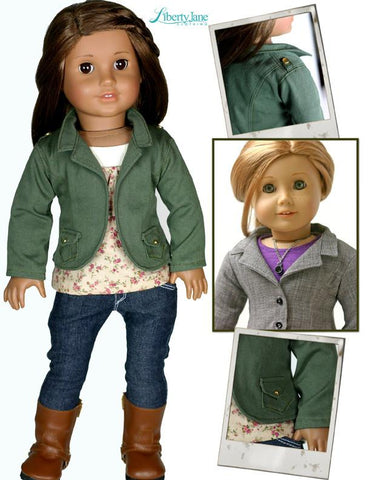 Liberty Jane Sofia Blazer 18 Inch Doll Clothes Pattern Pine Gap Outfit