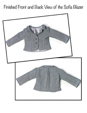 Liberty Jane Sofia Blazer 18 Inch Doll Clothes Pattern