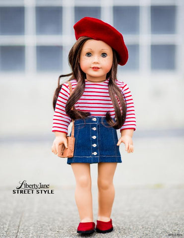 Liberty Jane 18 inch doll clothes T-shirt sewing pattern