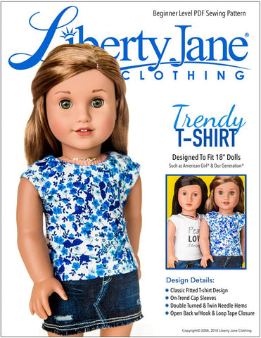 free t shirt 18 doll clothes pattern