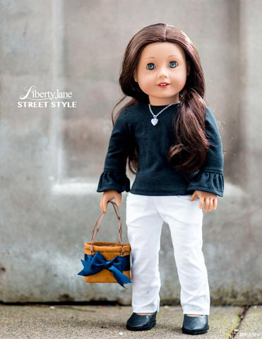 "Liberty Jane 18 Inch Modern T-Shirt Variations 18"" Doll Clothes Pattern Pixie Faire"
