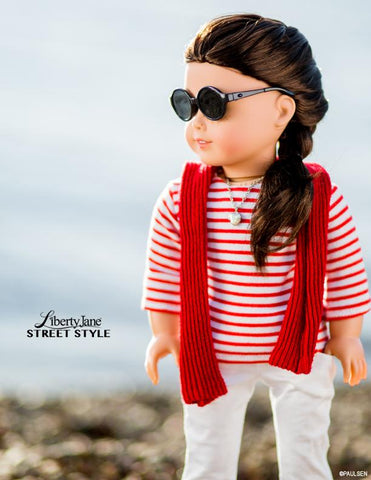 Liberty Jane 18 inch doll clothes pattern t-shirt skinny jeans American Girl