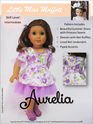 "Aurelia 18"" Doll Clothes Pattern"