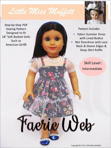 "Faerie Web 18"" Doll Clothes Pattern"