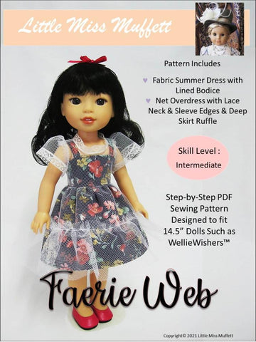 "Faerie Web 14.5"" Doll Clothes Pattern"