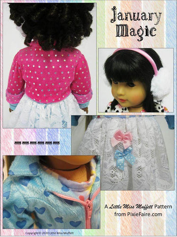 "January Magic 18"" Doll Clothes Pattern"