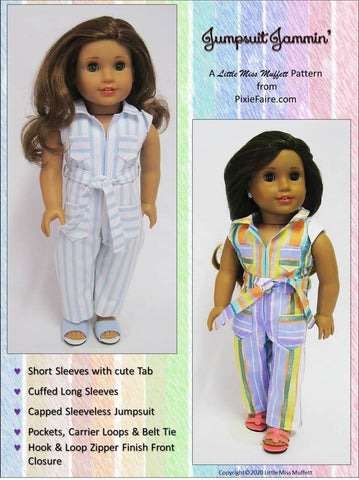 "Jumpsuit Jammin' 18"" Doll Clothes Pattern"