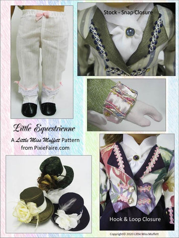 "Little Equestrienne 18"" Doll Clothes Pattern"
