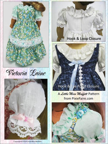 "Victoria Laine 18"" Doll Clothes Pattern"