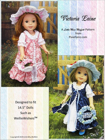 "Victoria Laine 14.5"" Doll Clothes Pattern"