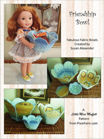 "Friendship Bowl 14"" to 18"" Doll Accessory Pattern"