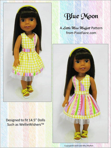 "Blue Moon 14-14.5"" Doll Clothes Pattern"
