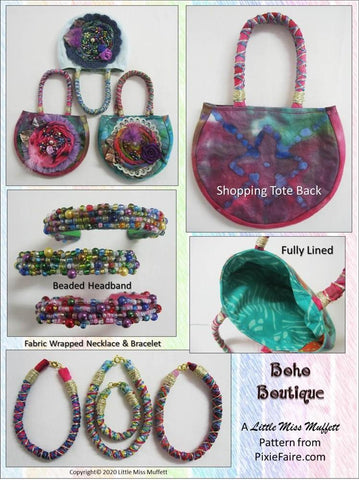 Boho Boutique 18 inch Doll Accessory Pattern
