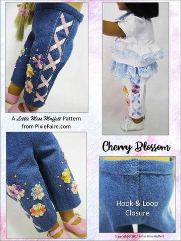 "Cherry Blossom 18"" Doll Clothes Pattern"