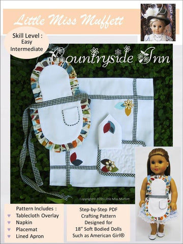 "Countryside Inn 18"" Doll Clothes Pattern"