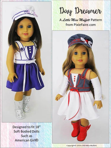 "Day Dreamer Dress 18"" Doll Clothes Pattern"