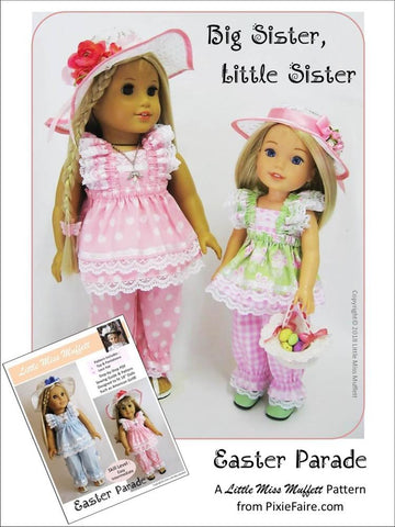 14.5 inch doll clothes PDF sewing pattern easter outfit for WellieWishers