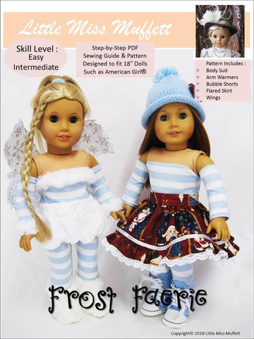 "Little Miss Muffett 18 Inch Modern Frost Faerie 18"" Doll Clothes Pattern Pixie Faire"