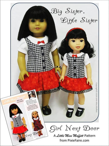 "Girl Next Door 18"" Doll Clothes Pattern"