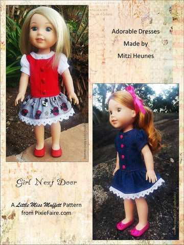 "Girl Next Door 14.5"" Doll Clothes Pattern"