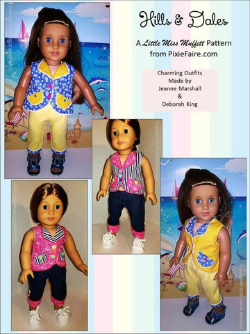 "Hills & Dales 18"" Doll Clothes Pattern"