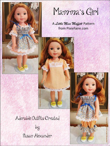 "Mamma's Girl 14.5"" Doll Clothes Pattern"