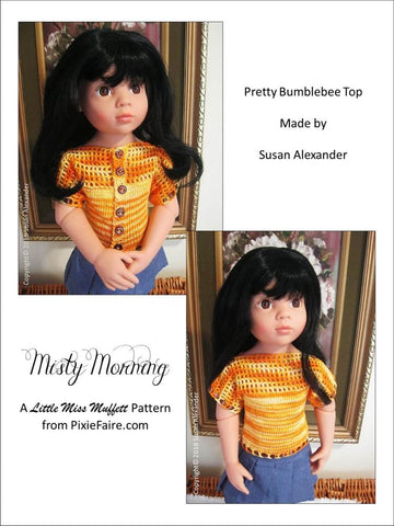 "Misty Morning Knitting & Crochet Pattern for 19"" Gotz Dolls"