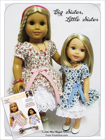 "Little Miss Muffett WellieWishers Provence 14.5"" Doll Clothes Pattern Pixie Faire"