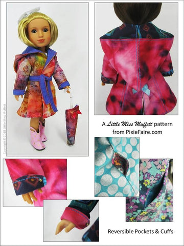 "Rainy Days Are Fun Days 14.5"" Doll Clothes Pattern"