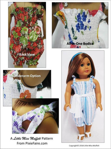 Riviera Romper Pattern For 18 to 20 Inch Dolls
