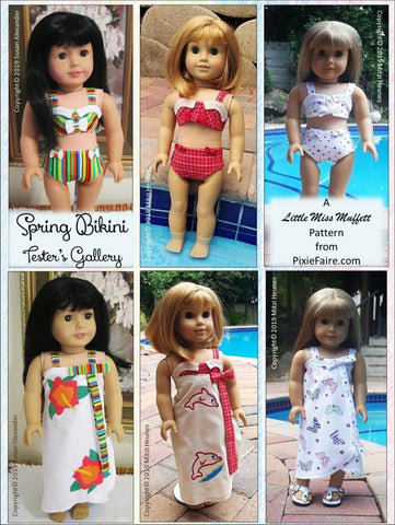"Spring Bikini 18"" Doll Clothes Pattern"