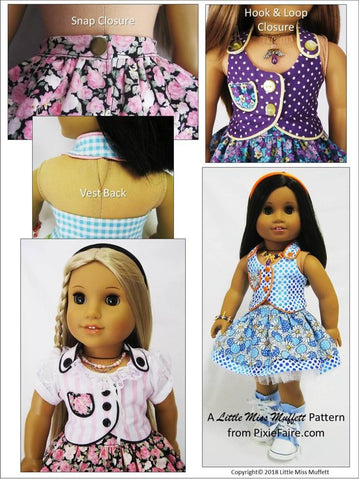 "Spring Fever 18"" Doll Clothes Pattern"