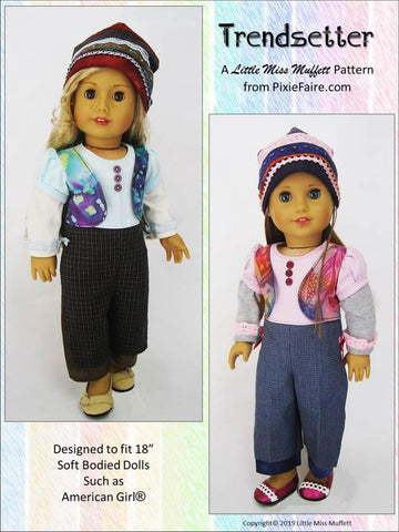 "Trendsetter Jumpsuit 18"" Doll Clothes Pattern"