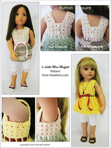 "Whispering Winds Crochet Pattern for 19"" Gotz Dolls"