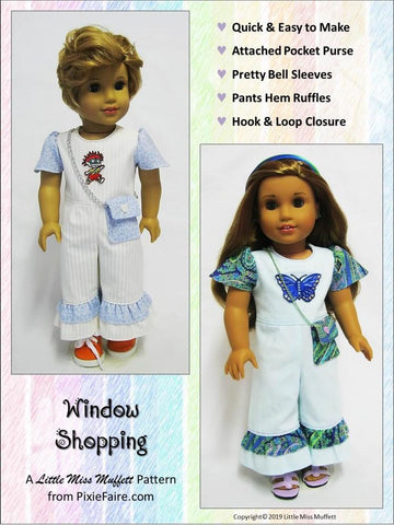 "Window Shopping 18"" Doll Clothes Pattern"