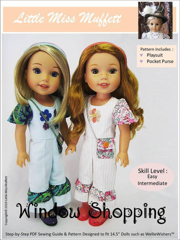 "Window Shopping 14.5"" Doll Clothes Pattern"