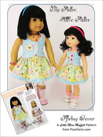 "Spring Fever 14.5"" Doll Clothes Pattern"