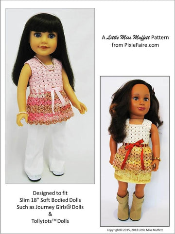 18 inch doll clothes crochet pattern fits journey girls jg dolls
