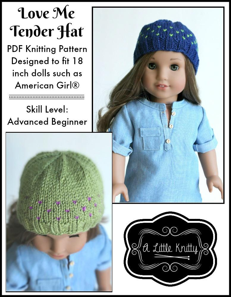 A Little Knitty Love Me Tender Hat Doll Clothes Knitting Pattern 18
