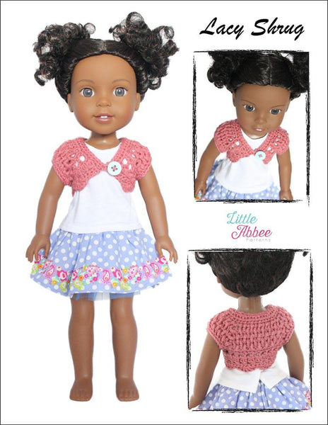 Little Abbee Lacy Shrug Doll Clothes Crochet Pattern For