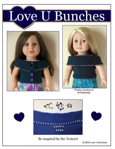 Beaded Beauty Doll Clothes Knitting Pattern for 18 Inch Dolls