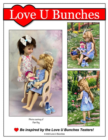 Polka Dot Party Dress Doll Clothes Pattern For Ruby Red Fashion Friends