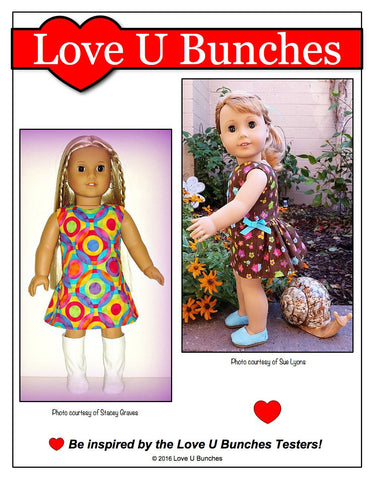 "Polka Dot Party Dress 18"" Doll Clothes"