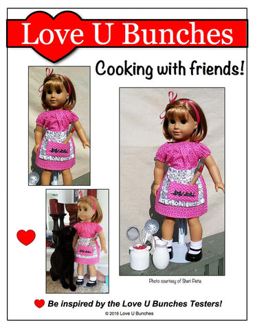Retro Apron for Girls and Dolls
