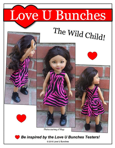Polka Dot Party Dress for Les Cheries and Hearts For Hearts Girls Dolls