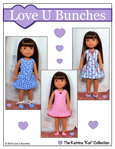 Polka Dot Party Dress for WellieWishers Dolls