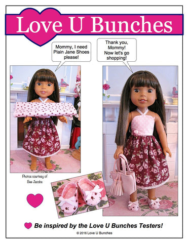 "Simply Summer Sundress 14.5"" Doll Clothes Pattern"