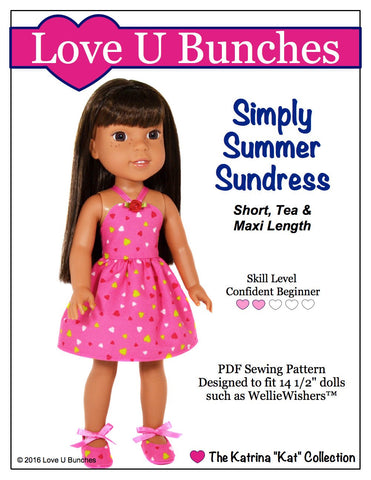 Simply Summer Sundress for WellieWishers Dolls