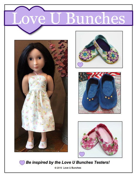 Love U Bunches Plain Jane Shoes Doll Clothes Pattern 16