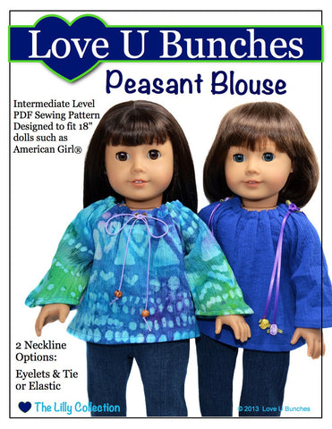 "Love U Bunches 18 Inch Modern Peasant Blouse 18"" Doll Clothes Pixie Faire"